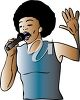A womans singing clipart