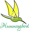 A hummingbird with text clipart