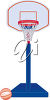 A standing basketball net clipart