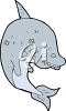 A cartoon shark clipart