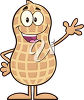 A happy peanut clipart