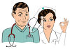 A medical team clipart