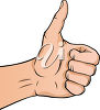 A hand giving a thumbs up clipart