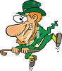 A happy leprechaun clipart