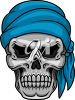A skull in a scarf clipart