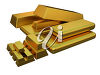 3d gold bars clipart