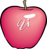 A red apple clipart