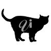 A black cat clipart
