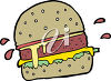 A hamburger clipart