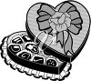 Candy in a heart-shaped box clipart