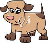 A brown dog clipart
