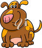 A brown spotted dog clipart