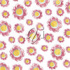 A background with a flower pattern clipart