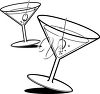 Two martinis clipart
