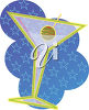 A martini and olive clipart