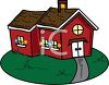 An old schoolhouse clipart