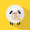 A sheep on a yellow background clipart