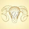 Royalty-Free Clip Art Picture of a Ram's Head