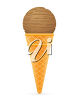 A single-scoop ice-cream cone clipart