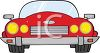 A red convertible clipart