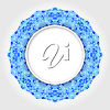 A blue round frame clipart