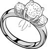 An engagement ring clipart