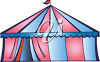 A circus tent clipart