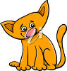 A cartoon cat clipart