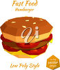 A hamburger with sharp edges clipart