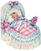 A baby in a bed clipart