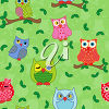 Owls on a background clipart