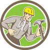A construction logo clipart