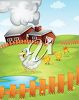 A barnyard with ducks clipart