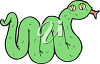 A cartoon snake clipart