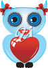 An owl with a valentine clipart