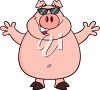 A cartoon pig clipart