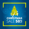 Clipart Image of a Christmas Tree Sale Banner