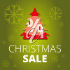 Clipart illustration of a promotional Christmas sale image. clipart