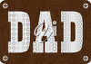 Father's Day Sign with the word 'Dad' clipart