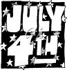 Clipart Image of a Cartoon July 4th