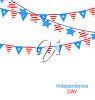 Clipart Illustration of Two Kinds of Independence Day Party Bunting. clipart
