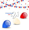 Clipart Image of 4th of July Bunting and Balloons