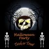 Halloween party invitation illustration clipart