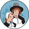 Clipart Image of a Pilgrim Couple