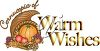 A cornucopia of warm wishes clipart