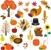 Assorted Thanksgiving images clipart