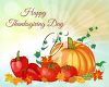 A happy Thanksgiving message clipart