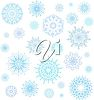 Clipart Image of Falling Snowflakes