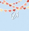 Clipart Image of Love Heart Decorations