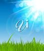 Clipart Image of Sunshine and Grass